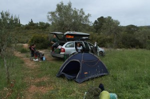 Posledné spanie v Španielsku, 2 km sz. dediny El Porelló.