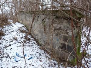 Bočná stena mostu. 26.11.2011.