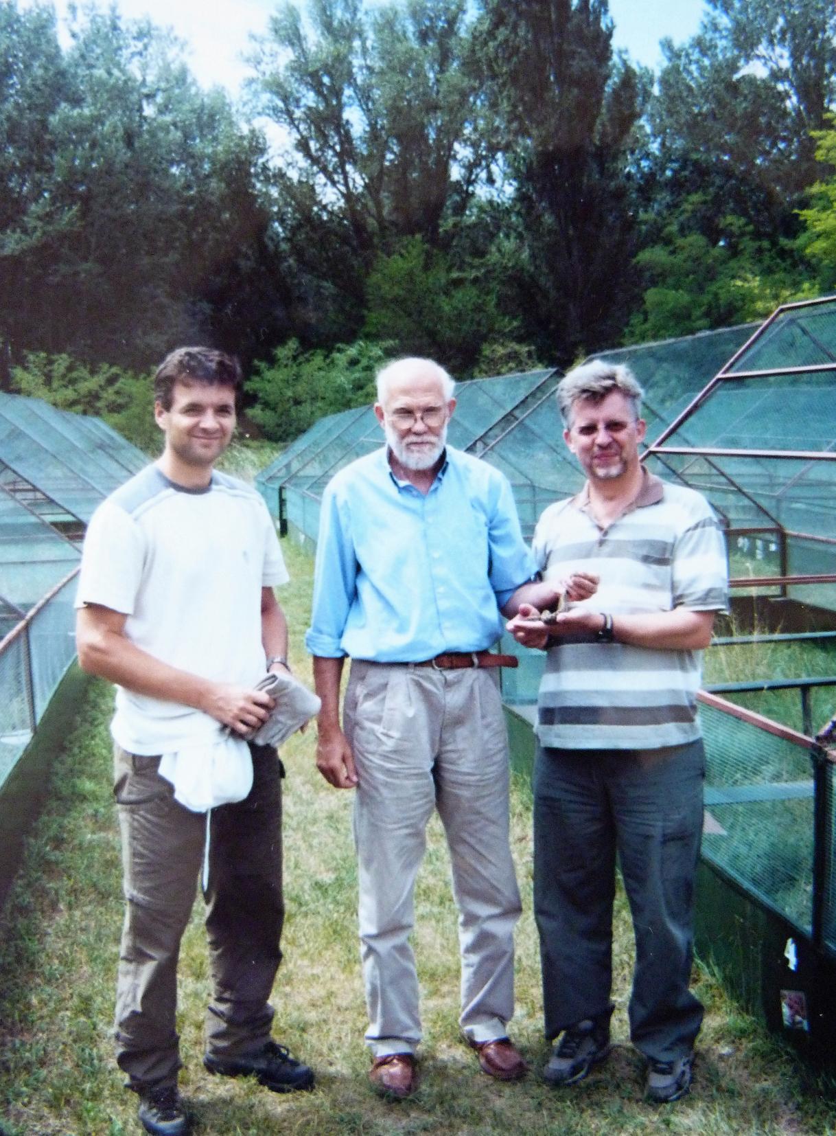 Zľava Bálint Halpern, Tamás Péchy, Zoltán Korsós, moji sprievodcovia.