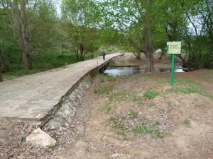 Most nad potokom Rivera de Huesna. Počas celej prechádzky sme jaštericu nevideli!
