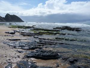 Pláž Praia do vale dos homes zblízka.