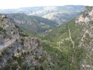 Mirador Tapadero ( Loma de la Be ), pohľad na sever.