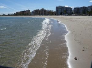 Pláž v meste Sagunto.