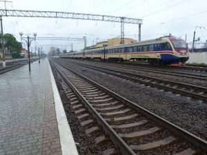 Rýchlik v stanici Mukačevo.
