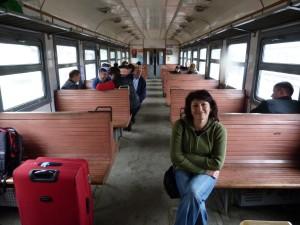 V osobnom vlaku z Mukačeva do Stryje.