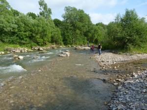 Rieka Bystricja u Uriže.