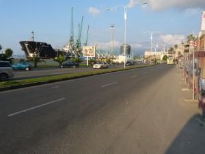Cesta okolo prístavu, Batumi.