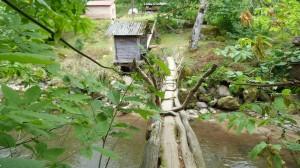 Prírodný most cez potok Čakvistavi s malým mlynom, pod ktorý sa schovávali jašterice D. rudis bischoffi.