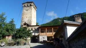 Mestia, jedna z mnohých obraných veží.