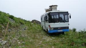 Autobus pre včely, cca 2200 m.n.m.