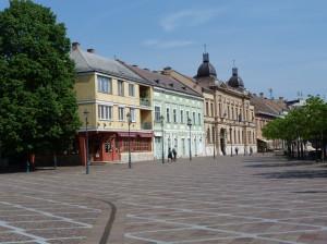 Esztergom: Széchényiho námestie z druhej strany.