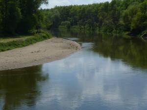 Zákruta rieky Morava po prúde, 07.05.2016, 12.51 hod.