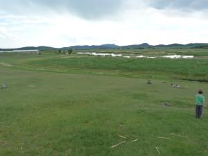 Kornyi-tó, severne dediny Kővágóörs, behali tu sysle.