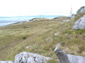 Terén na konci výstupu na severnú stranu.