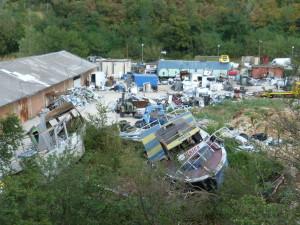 Uložený komunálný odpad na chorvátský spôsob.