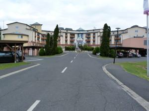 Lotus therme - luxusný hotel na okraji mesta Hévíz.
