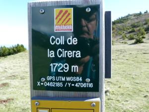 Informačná tabuľa v sedle nad Batére. Za hodinu sme vystúpali výškove približne iba o 133m, 20.05.2019, 08:39 h.