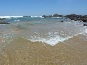 Pláž Praia do Castelej (južnejšia). Jašterice Podarcis carbonelli sme nenašli, 25.07.2019, 12:23 hod.