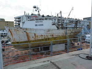 Starý prístav a jeho staré lode, Janov.