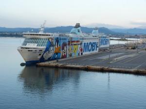 Prístav Olbia, Sardínia.