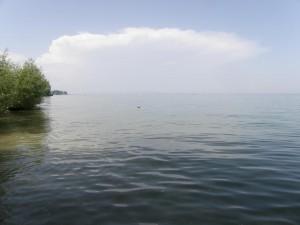 Bodamské jazero od Rorschach.