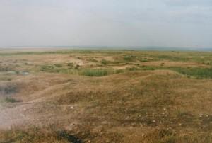 ...Histria, celkový pohľad na terén južne od kempu, 10.06.1997...