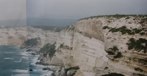 ....skalné útesy u Bonifácia, je hrozné sa pozerať dole, 04.05.1998...