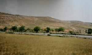 """Krajina južne Zaragózy, """"červená pustatatina""""."""