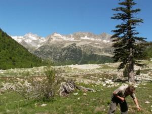 Radek, za ním štíty Parc Nacional  d´Algüestortes i Estany de Sant Maurici zo zápanej  strany.