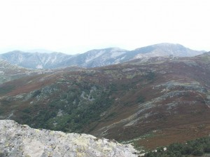 Sierra de la Peňa de Francia, pohľad na západ